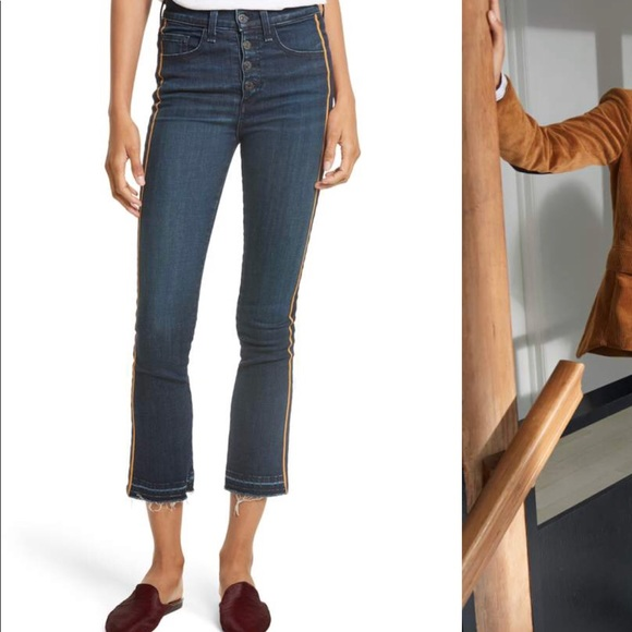 16be9ee835 NWT Veronica Beard High Rise Crop Jeans Size 28
